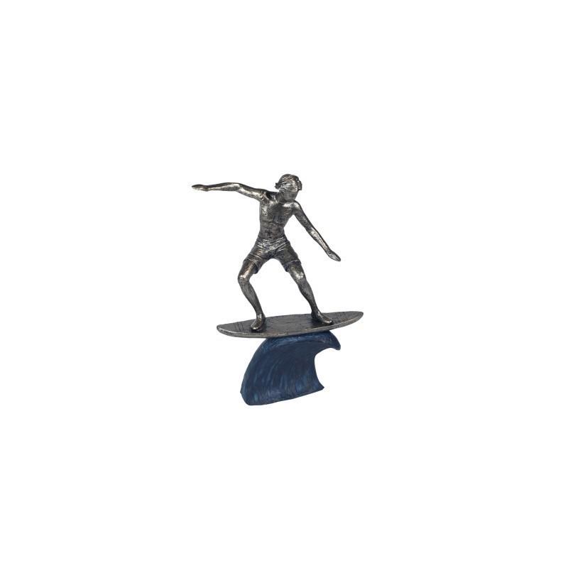 Figura Decorativa Clasica Surfista Resina 22 cm