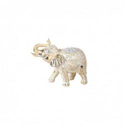 Figura Decorativa Elefante Resina Crema 28 cm