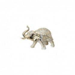 Figura Decorativa Elefante Resina Dorado 24 cm