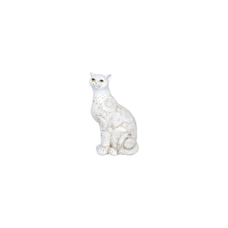Figura Decorativa Gato Resina 22 cm