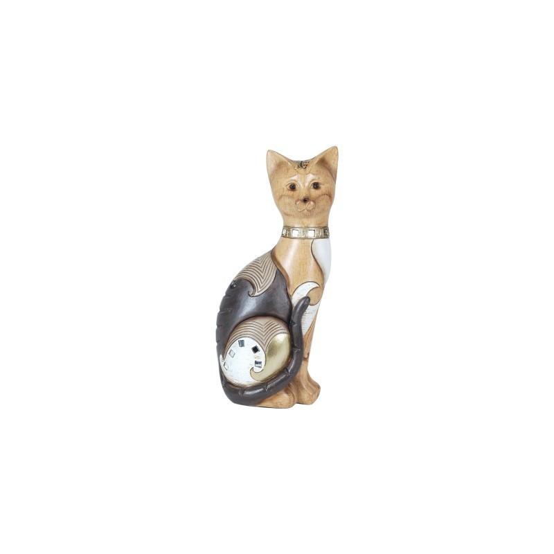 Figura Decorativa Gato Resina 23 cm