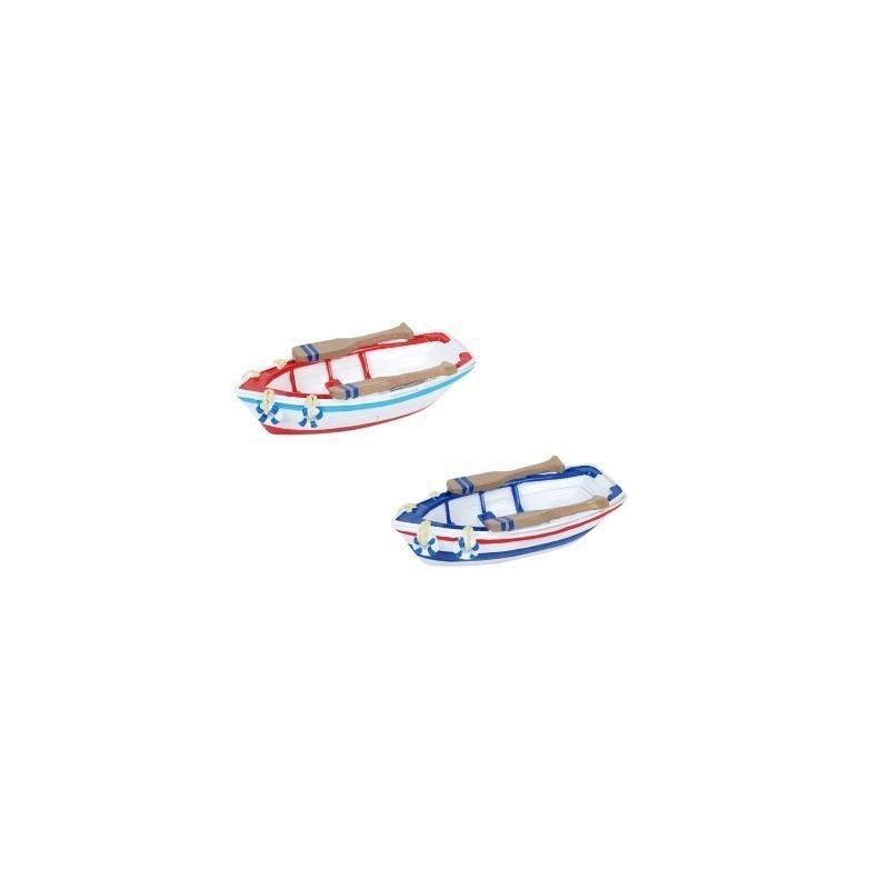 Figura Decorativa x2 Barca con Remo Resina 11 cm