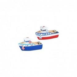 Figura Decorativa x2 Barco Resina 13 cm