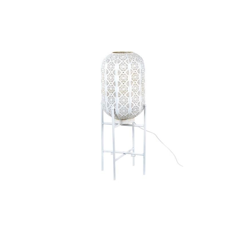 Lampara de Pie Metalica Blanca 67 cm