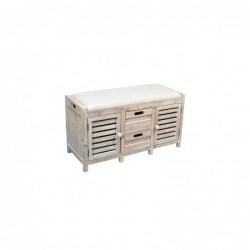 Mueble Banco Con Cajon Madera Retro 88 cm