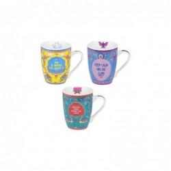 Mug Porcelana x3 Colores 12 cm