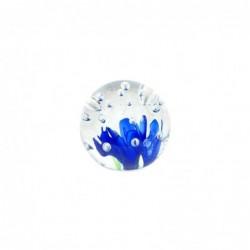 Pisapapeles Cristal Flor 8 cm
