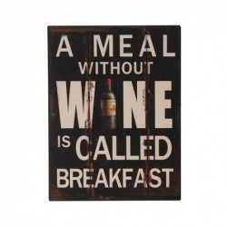 Placa Pared Decorativa Wine 33x25 cm