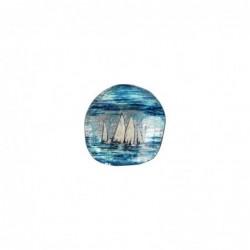 Plato Cristal Decorativo Cristal Barcos 16 cm