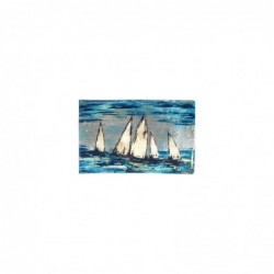 Plato Cristal Decorativo Cristal Barcos 22 cm