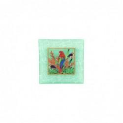 Plato Cristal Decorativo Cristal Loro 21 cm