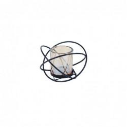 Porta Velas T-Lite Con Vaso 9 cm