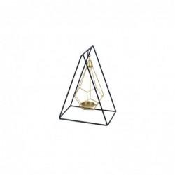 Porta Velas T-Lite Piramide 26 cm