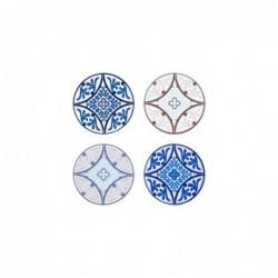 Posavasos Set 4 Unidades Mosaico 11 cm