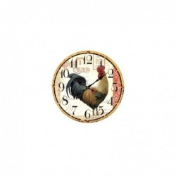 Reloj de Pared Gallo Madera 34 cm