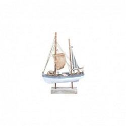 Figura Decorativa Barco Madera 40 cm
