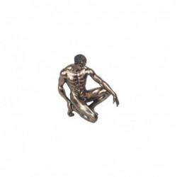 Figura Decorativa Clasica Hombre Desnudo Resina 20 cm