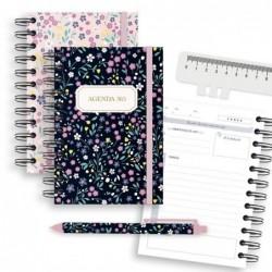 Agenda 365 dias con Boligrafo Bloom x2 Colores 16 cm
