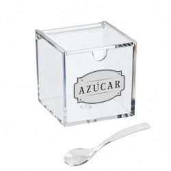 Azucarero Acrilico con Cuchara 16 cm