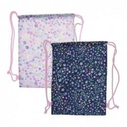 Bolsa GYM Flores x2 Colores 45 cm