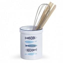 Bote Utensilios de Cocina Ceramica Mediterraneo 10 cm