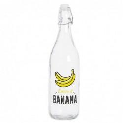 Botella 1 Litro Bananas Cristal 25 cm