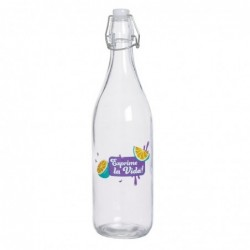 Botella 1 Litro Lemon Cristal 25 cm