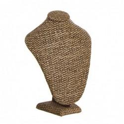 Busto Soporte Collares Madera 30 cm