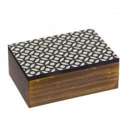Caja Rectangular Madera Africa 15 cm