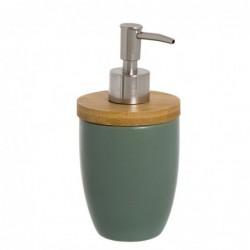 Dosificador Jabon Ceramica Verde 17 cm