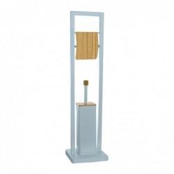 Escobilero WC Portarollos Bamboo Azul 80 cm