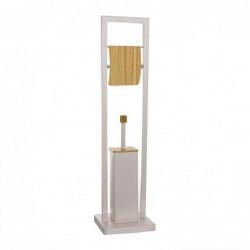 Escobilero WC Portarollos Bamboo Rosa 80 cm