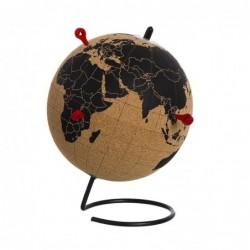Globo Terraqueo Corcho 4 Pins Google 20 cm