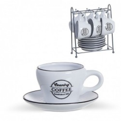 Juego CafŽ 6 tazas con Platos 100 ml