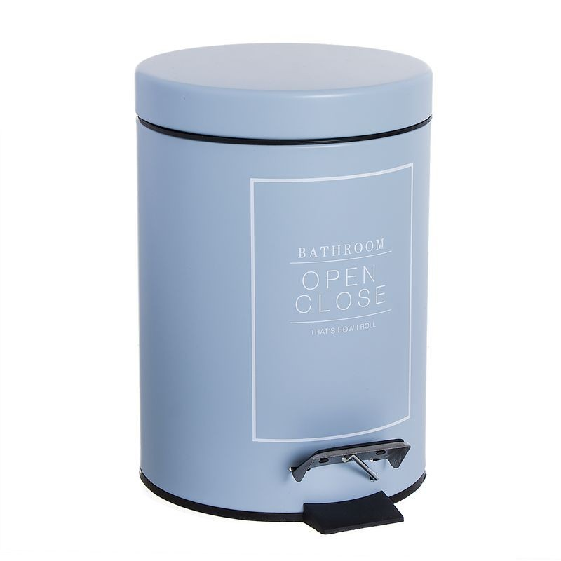 Papelera de Ba–o 3 litros Essential Azul 24 cm