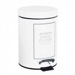 Papelera de Ba–o 3 litros Essential Blanca 24 cm