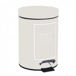 Papelera de Ba–o 3 litros Essential Crema 24 cm