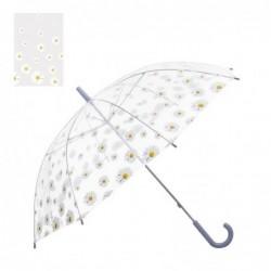 Paraguas Automatico Infantil Transparente Flores