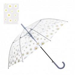 Paraguas Automatico Transparente flores 51 cm