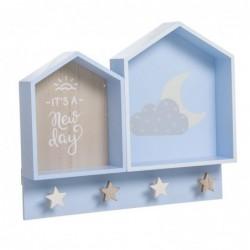 Perchero Estante Infantil Azul 42 cm