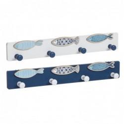 Perchero Pared x2 Mediterraneo Azul 40 cm