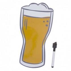 Pizarra Magnetica Cerveza con rotulador 29 cm
