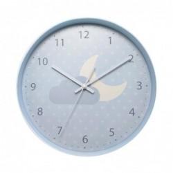 Reloj De Pared Infantil Azul 30 cm