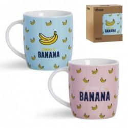 Taza Mug 350 ml x2 Banana Ceramica