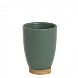 Vaso de Ba–o Verde 10 cm