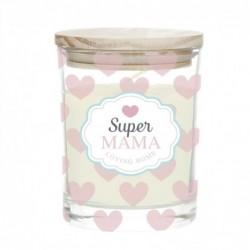 Vela en Vaso Cristal Super Mama 8 cm