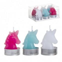 Vela Unicornio Set 6 Unidades 6 cm