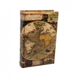 Caja Fuerte Forma Libro Mapamundi 24 cm