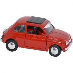 Figura Coche Fiat 500 Escala 1:32 1965 Rojo Metal