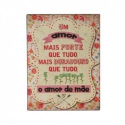 Placa Pared Decorativa Mensajes 33x25 cm